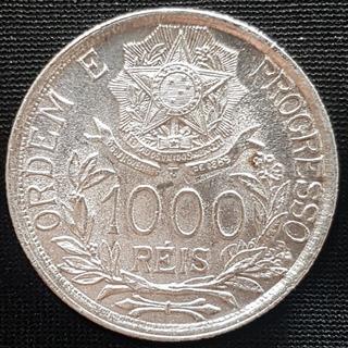 Moeda 1.000 Réis Prata 1913 Estrelas Ligadas