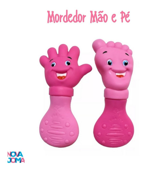 Kit Mordedor Pé E Mão - Vila Toy - Rosa