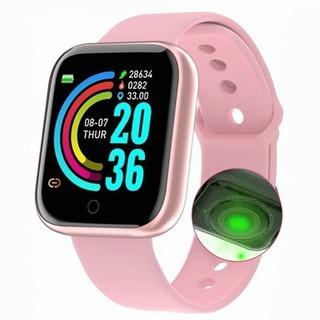 Impermeável Digital Y68 Relógio Inteligente Mulheres Espor