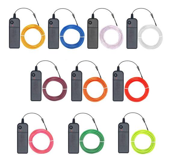 Hilo Tira Led Neon 3 Metros Wire Cable Luminoso Flexible