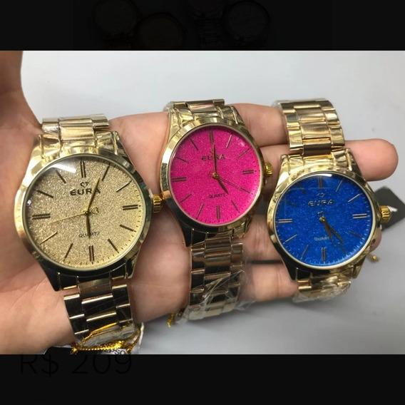 5 Relógios Femininos Originais Eura Atacado Revenda Barato