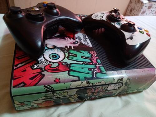 Xbox Slim 360 Destravado Com Dois Controles