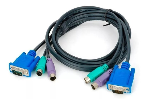 Cabo Kvm Switch Pc Teclado Mouse Ps2 Vga