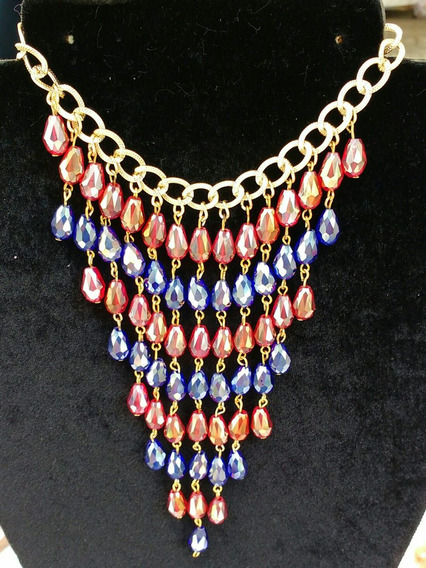 Collar De Gotas De Cristal