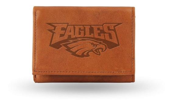 Nfl Cartera Cuero Genuino Eagles Philadelphia /aguilas De Filadelfia