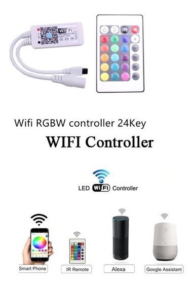 Controlador Fita Led Rgbw Wifi Android Google Home Internet