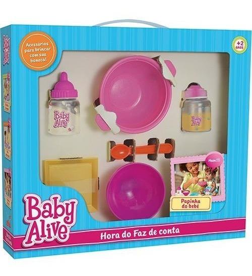Hora Do Faz De Conta Baby Alive Papinha Do Bebe Elka