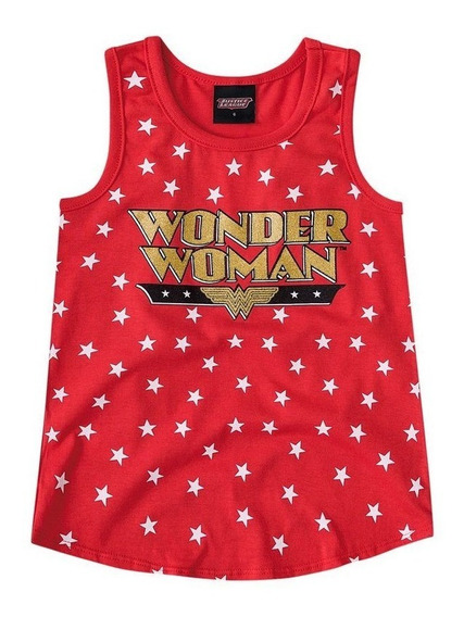 Regata Wonder Woman Vermelha Brandili.