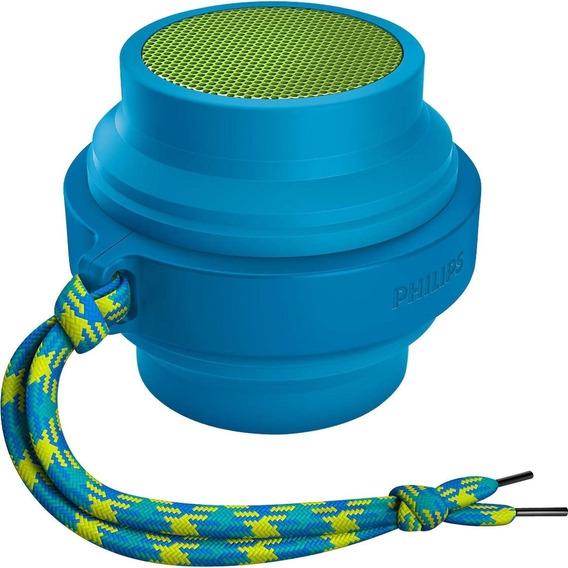 Caixa De Som Philips Fl3x Bluetooth P2 Recarregável Azul Nf
