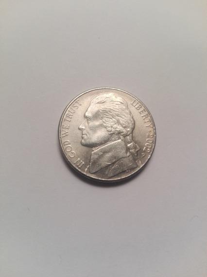 Usa Moneda 5 Centavos Año 2002 Letra P