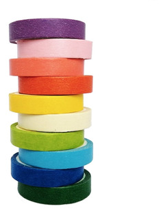 Washi Tape Cintas Colores Semibrillante Scrapbook