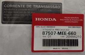 Adesivo Da Corrente De Transmissão Cbr650f Original