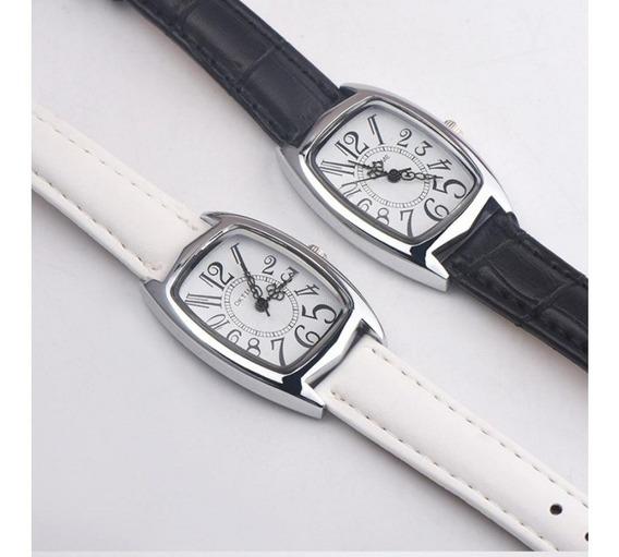 Relógio Feminino Casual Couro Sintético Ok Time Branco