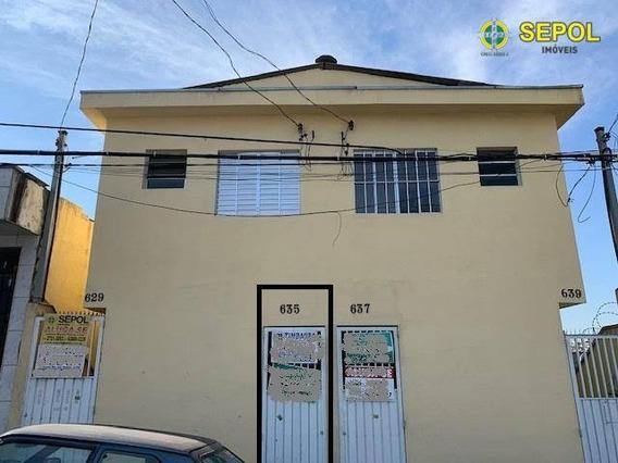 Casa Com 1 Dormitório Para Alugar, 50 M² Por R$ 800,00/mês - Jardim Egle - São Paulo/sp - Ca0122
