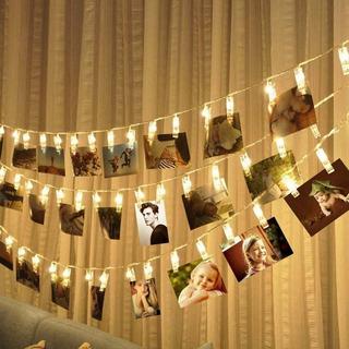 Serie Luces Led Pinzas Decorativa Fotos Portaretrato 3m 20pz