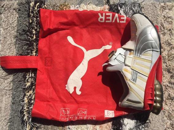 Puma Disc Branco E Vermelho Original