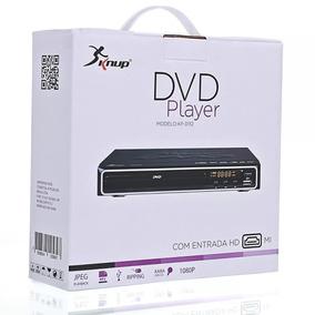 Dvd Player Usb Com Controle Karaoke Hdmi Knup + Microfone