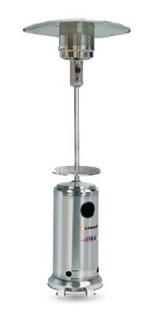 Calefactor Exterior Hongo Estufa Gas Mesa Ruedas Acero Inox