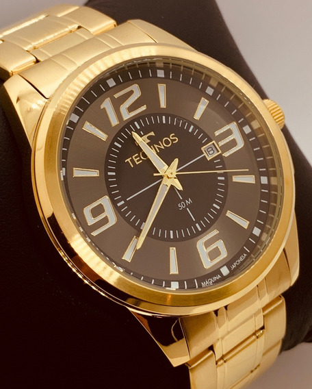 Relógio Technos Masculino Dourado Performer Racer