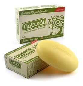 10 Sabonete Natural Suavetex Extrato Orgânico Camomila 80 G