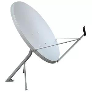 2 Antena De 90 Cm Com Lnb Duplo E Kit Cabo