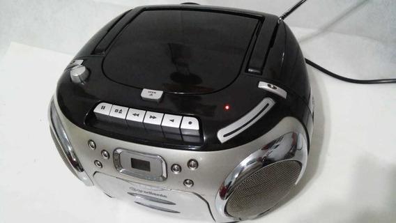 Boombox Gradiente Revisado Funcionando Tudo Rádio Cd Fita K7