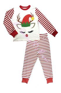 Pijama Navideña Para Niñas, La Costura De Raymi