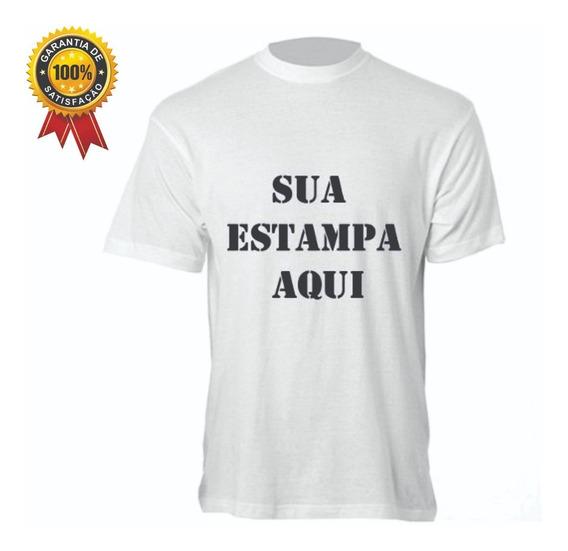 Camiseta Branca Personalizada - Sua Logo 30 Pçs - Promoção