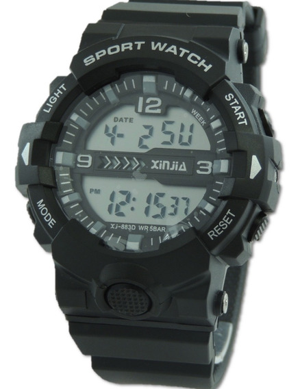 Relógio Digital Esporte Prova De Água Xinjia853 Preto Gshock