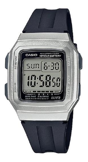 Relógio Casio Masculino Vintage F-201wam 7av Prata Digital