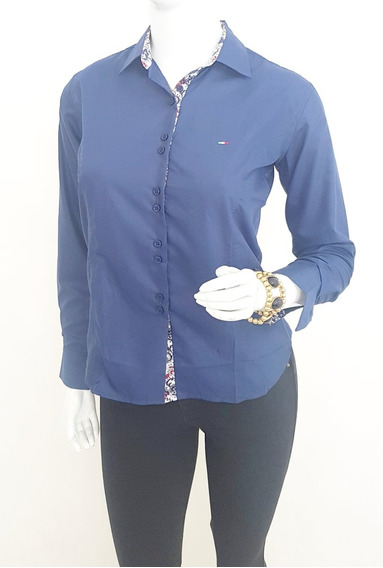 Kit 2 Camisa Social Feminina Slim Fit Do 36 Ao 48