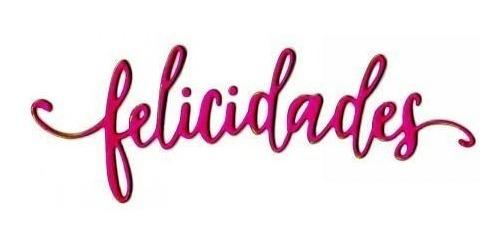Scrapbook Suaje Felicidades Frase Español Tarjeta Invitacion
