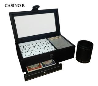Juego De Casino En Estuche De Piel