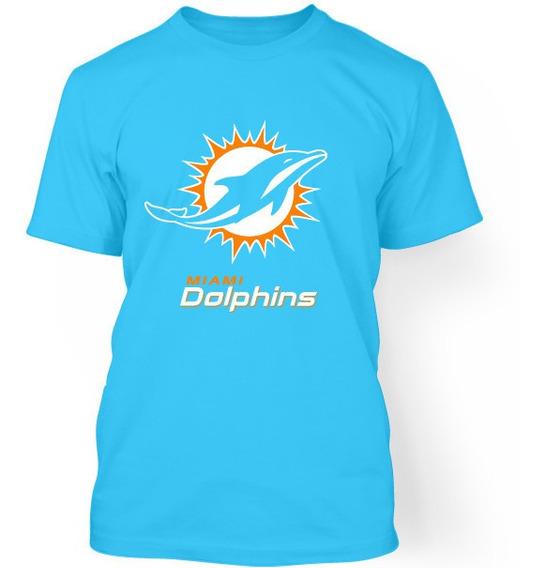 Playera 717 Nfl Miami Dolphins Talla S - 3xl Caballero