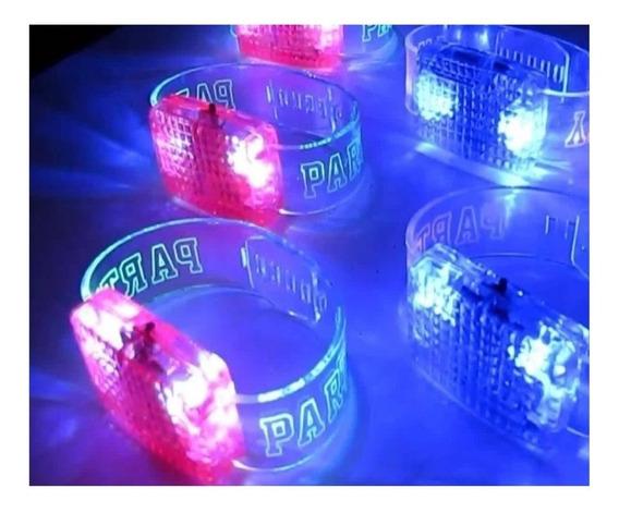 Pulseras Audioritmicas Con Led, Cotillon Luminoso, Led