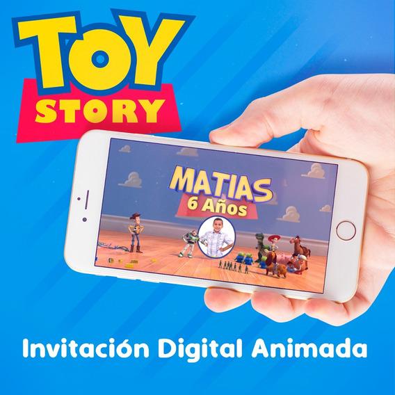 Invitacion Digital Animada De Toy Story 4