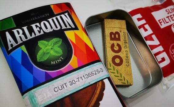 Tabaco De Menta Latita Filtros Y Papeles Kit Cigarros Armá