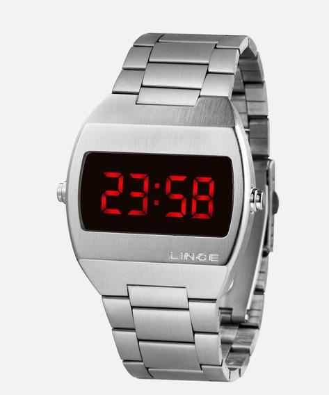 Relógio Masculino Digital Led Lince Mdm4620l Vxsxa