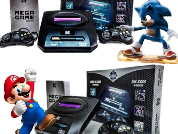 Video Game Retrô Mega Drive Game 123 Jogos Inclusos