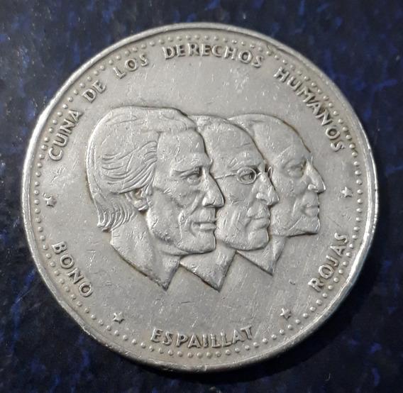 Moneda 1/2 Medio Peso 1987 Conmemorativa Rep Dominicana