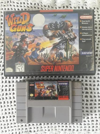 Wild Guns Com Caixa Original Super Nintendo Snes