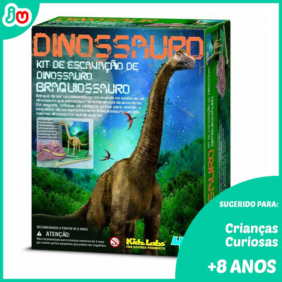 Frete Grátis Kit De Escavação 4m Dinossauros - Braquissauro