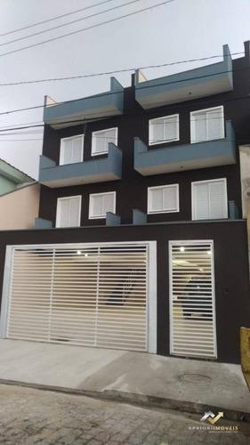 Cobertura Com 2 Dormitórios À Venda, 90 M² Por R$ 286.000,00 - Vila Junqueira - Santo André/sp - Co0692