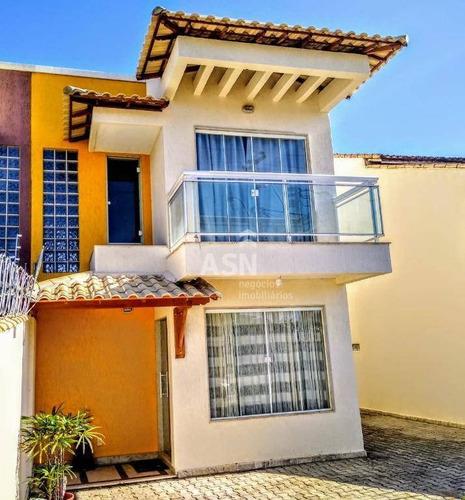 Casa Com Piscina, Sendo 3 Dormitórios À Venda, 129 M² Por R$ 530.000 - Enseada Das Gaivotas - Rio Das Ostras/rj - Ca0722