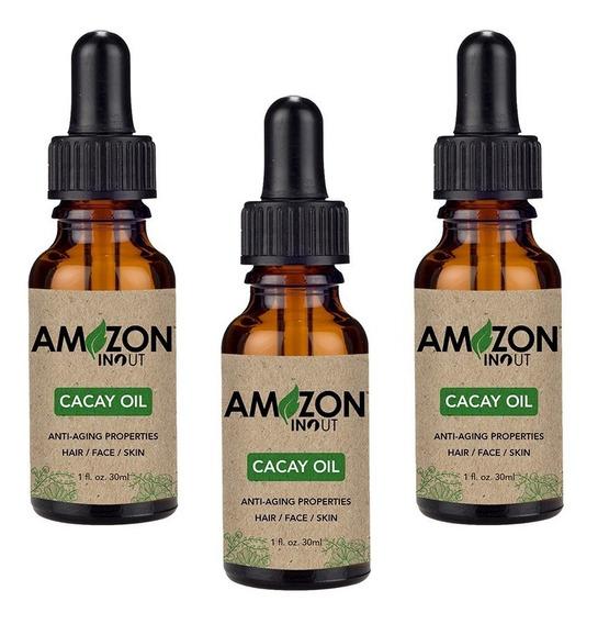 Óleo De Cacay 30ml Amazon In Out Kit Com 3 Óleos