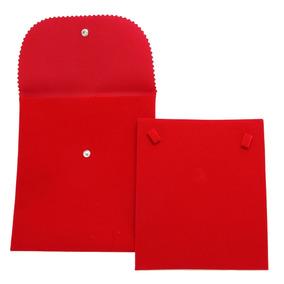 Envelope Veludo Médio Para Colar Vermelho