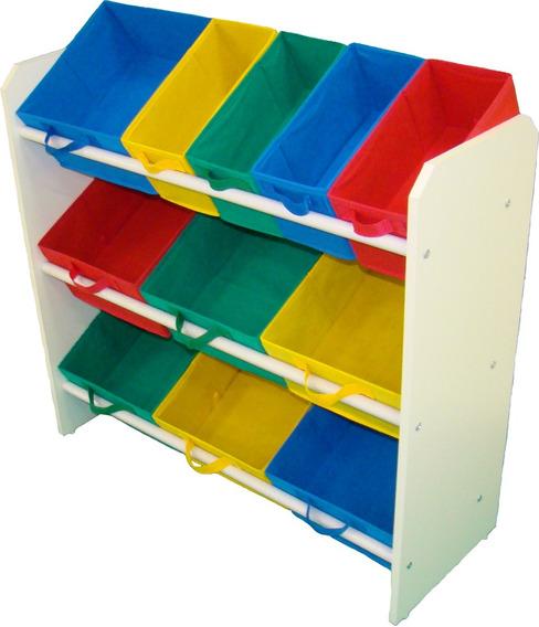 Organizador Porta Brinquedo Quarto Montessoriano Colorido