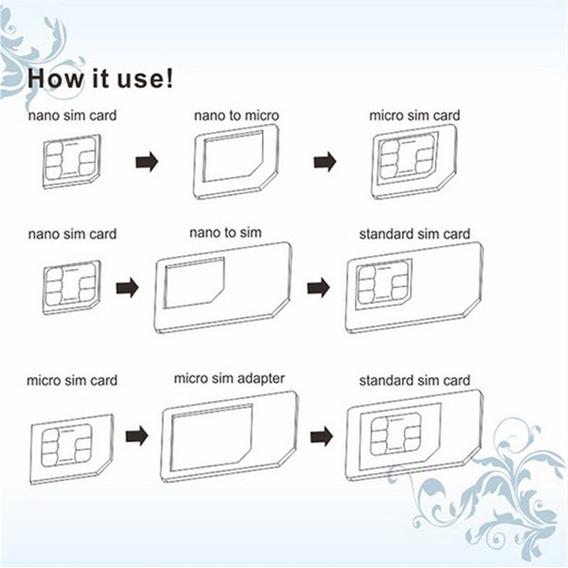 1 Conjunto/3 Para Nano Sim Para Micro Cartão Padrão Adaptado