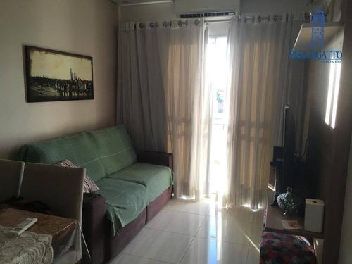 Imagem 1 de 20 de Apartamento Com 2 Dormitórios À Venda, 56 M² Por R$ 380.000,00 - Parque Dos Servidores - Paulínia/sp - Ap1182
