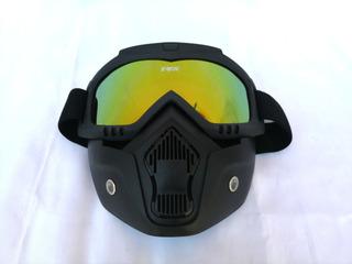 Goggles Tipo Fox Mascara Careta Motociclista Gotcha Dorado